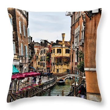 Throw Pillow featuring the photograph Venice by Shirley Mangini