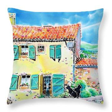 View Of Luberon Throw Pillow