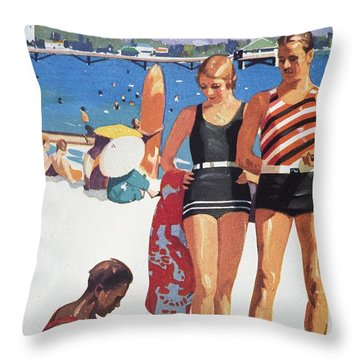 Vintage Hawaiian Art Throw Pillow by Hawaiian Legacy Archive - Printscapes