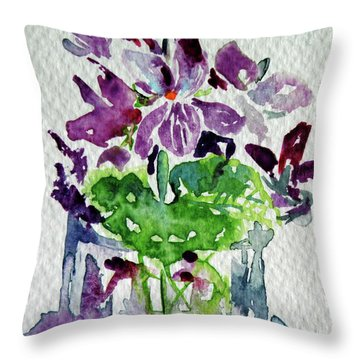 Violet Throw Pillow by Kovacs Anna Brigitta
