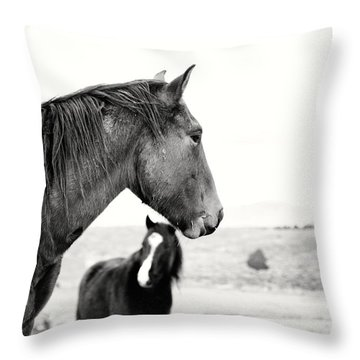 Virginia Range Mustangs Throw Pillow