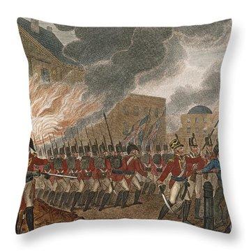 Washington Burning, 1814 Throw Pillow by Granger