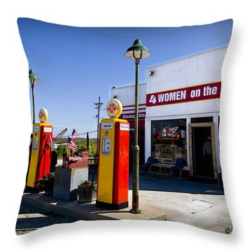 4 Women On The Route Throw Pillow