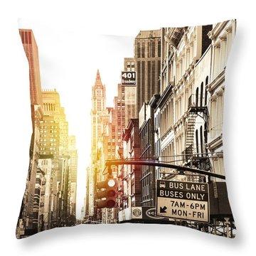 401 Broadway Throw Pillow