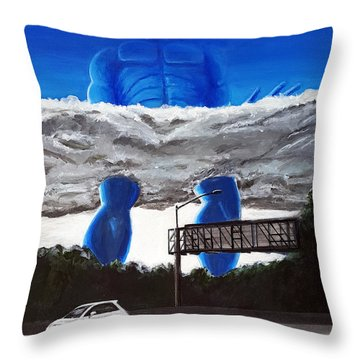 405 N. At Roscoe Throw Pillow by Chris Benice