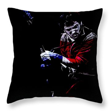 Bruce Springsteen Collection Throw Pillow by Marvin Blaine