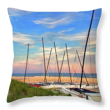 41st Street Beach In Ocean City Nj Throw Pillow