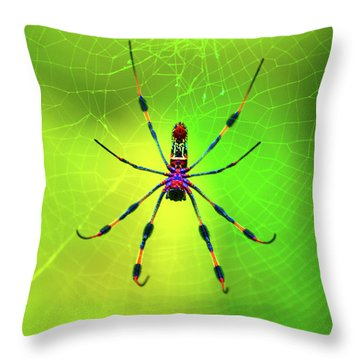 Throw Pillow featuring the digital art 42- Come Closer by Joseph Keane
