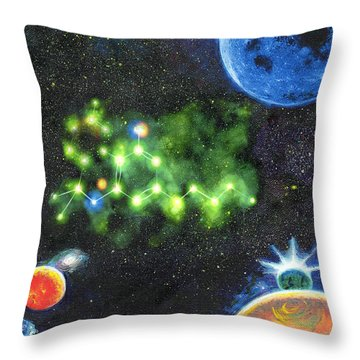 420 Space Throw Pillow by Charles Bickel