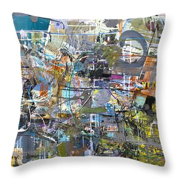 Throw Pillow featuring the painting #42215 Or 'the Explorer' by Robert Anderson