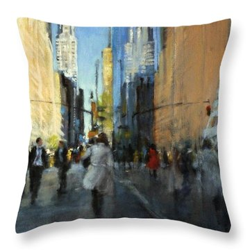 42nd Street Reflections Throw Pillow