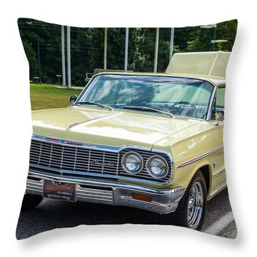 Hall County Sheriffs Office Show And Shine Car Show Throw Pillow