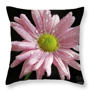 Pink Flower Throw Pillow by Elvira Ladocki