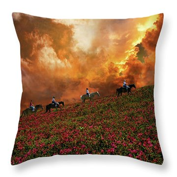 Throw Pillow featuring the photograph 4370 by Peter Holme III