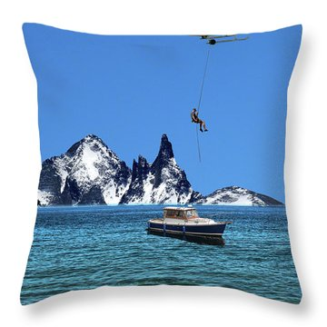 Throw Pillow featuring the photograph 4372 by Peter Holme III