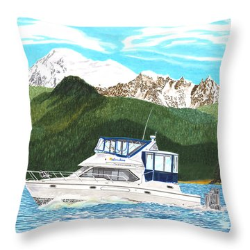 Bayliner Paintings Throw Pillows