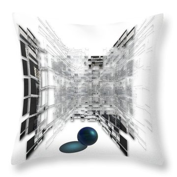 Throw Pillow featuring the photograph 4387 by Peter Holme III