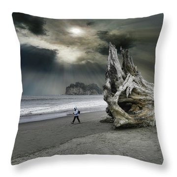Throw Pillow featuring the photograph 4392 by Peter Holme III