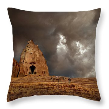 Throw Pillow featuring the photograph 4398 by Peter Holme III