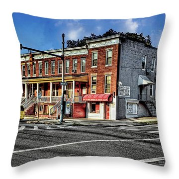 43rd Street And York Road Throw Pillow