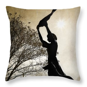44 Years Of Waving Throw Pillow
