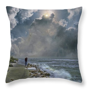 Throw Pillow featuring the photograph 4405 by Peter Holme III