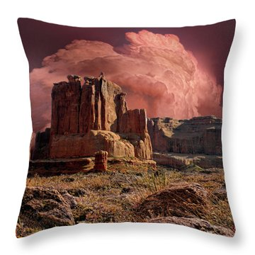 Throw Pillow featuring the photograph 4417 by Peter Holme III