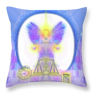 Throw Pillow featuring the digital art 444 Justice #197 by Barbara Tristan