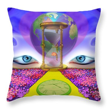 Throw Pillow featuring the digital art 444 Pathway by Barbara Tristan