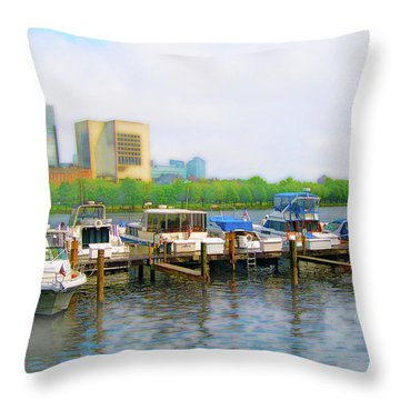 Throw Pillow featuring the photograph 4455 by Peter Holme III