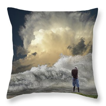 Throw Pillow featuring the photograph 4457 by Peter Holme III