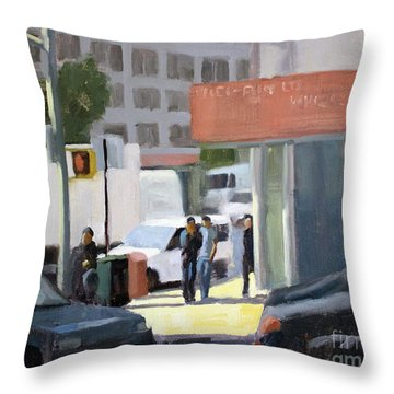 44th And 4th Throw Pillow