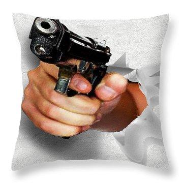 You Lookin At Me? Throw Pillow