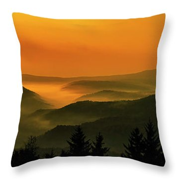 Throw Pillow featuring the photograph Allegheny Mountain Sunrise by Thomas R Fletcher