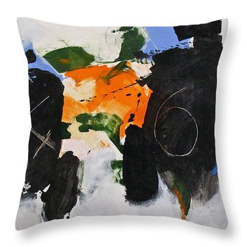 Throw Pillow featuring the painting 46 by Cliff Spohn