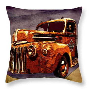 46 Ford Flatbed Redux From The Laboratories At Vivachas Throw Pillow