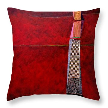Throw Pillow featuring the painting Valley Of Man by James Lanigan Thompson MFA