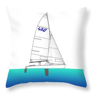 470 Olympic Sailing Throw Pillow