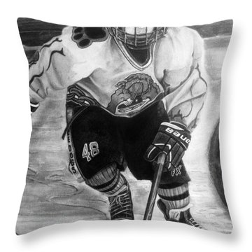 #48 Andrew Savona Squirt Aa Hatfield Ice Dogs Throw Pillow