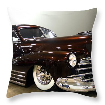 Throw Pillow featuring the photograph 48 Chevy  by Bill Dutting