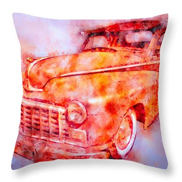 48 Dodge 3 Window Business Coupe Throw Pillow