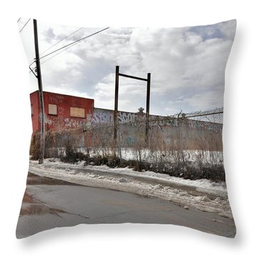 4814 Dunn Street Urban Exploration Throw Pillow by Reb Frost