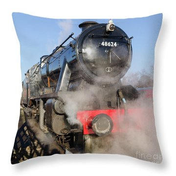 48624 Steam Locomotive Throw Pillow by Steev Stamford