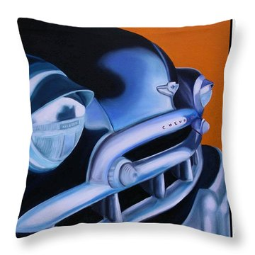 49 Chevy Poster Throw Pillow