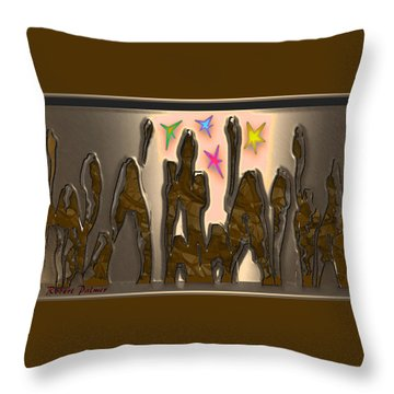 4th At Firesupportbase 54 Throw Pillow