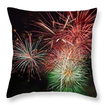4th Of July Fireworks Display Portland Oregon Throw Pillow by David Gn