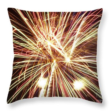 4th Of July Fireworks Throw Pillow by Joe Carini - Printscapes