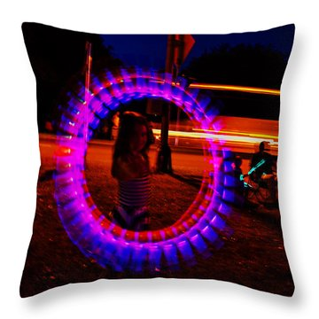 4th Of July - Glow Sticks On A String Throw Pillow