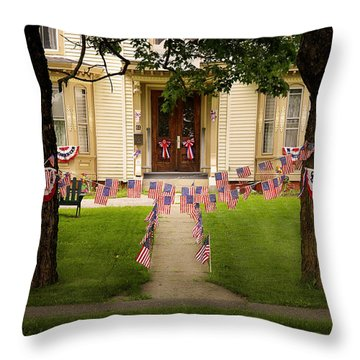 Throw Pillow featuring the photograph 4th Of July Home by Craig J Satterlee