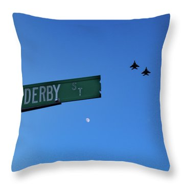 Throw Pillow featuring the photograph 4th Of July In Salem by Jeff Folger